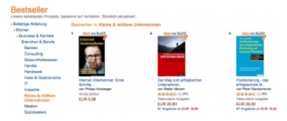Selbstmarketing durch Bestseller eBook - Der Beweis