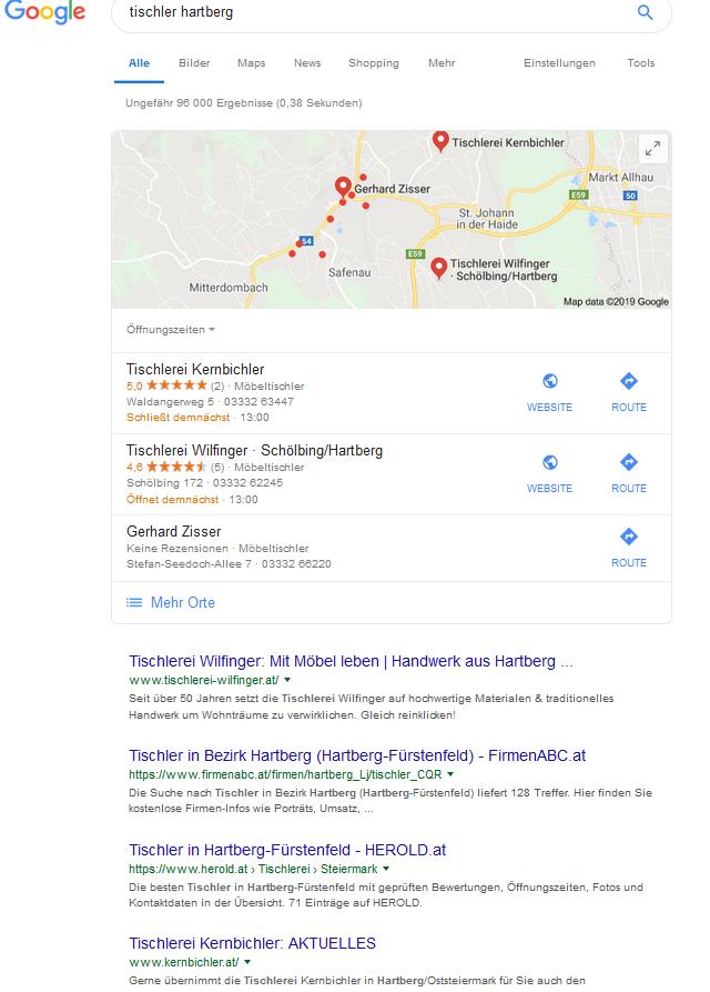 SEO Beratung: Regional suchmaschinenoptimierung - lokale Suchergebnisse