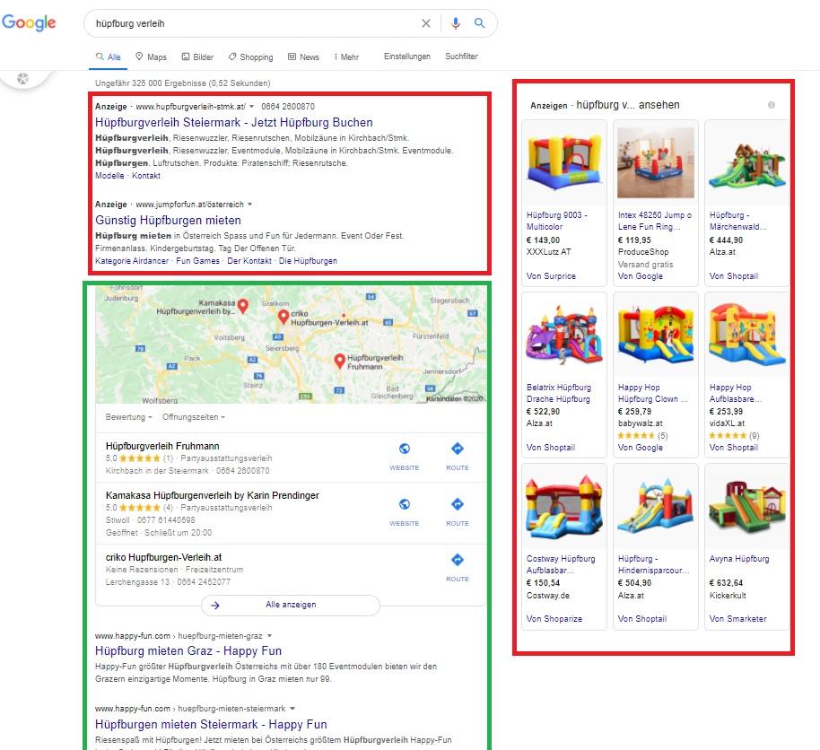 Google Werbung - Google Ads diverse Formate