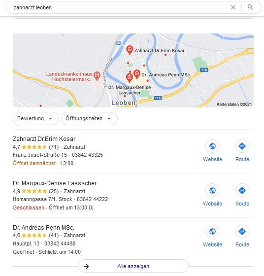 Kundenbewertung bei Google